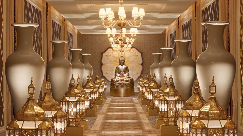 Pride travel las vegas nevada wynn encore hotel buddha spa for Wynn hotel decor